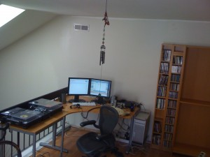My desk in open corner of my loft/office